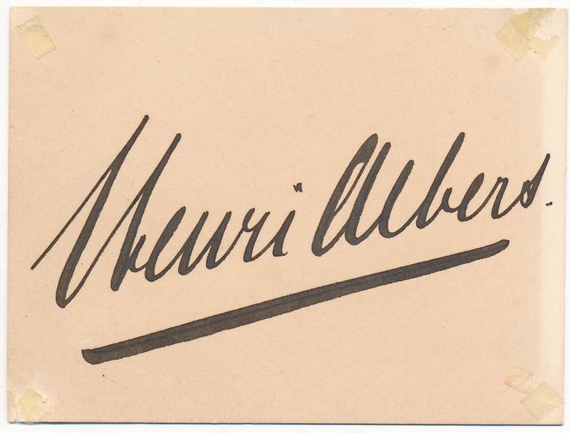 Henri Albers_handtekening
