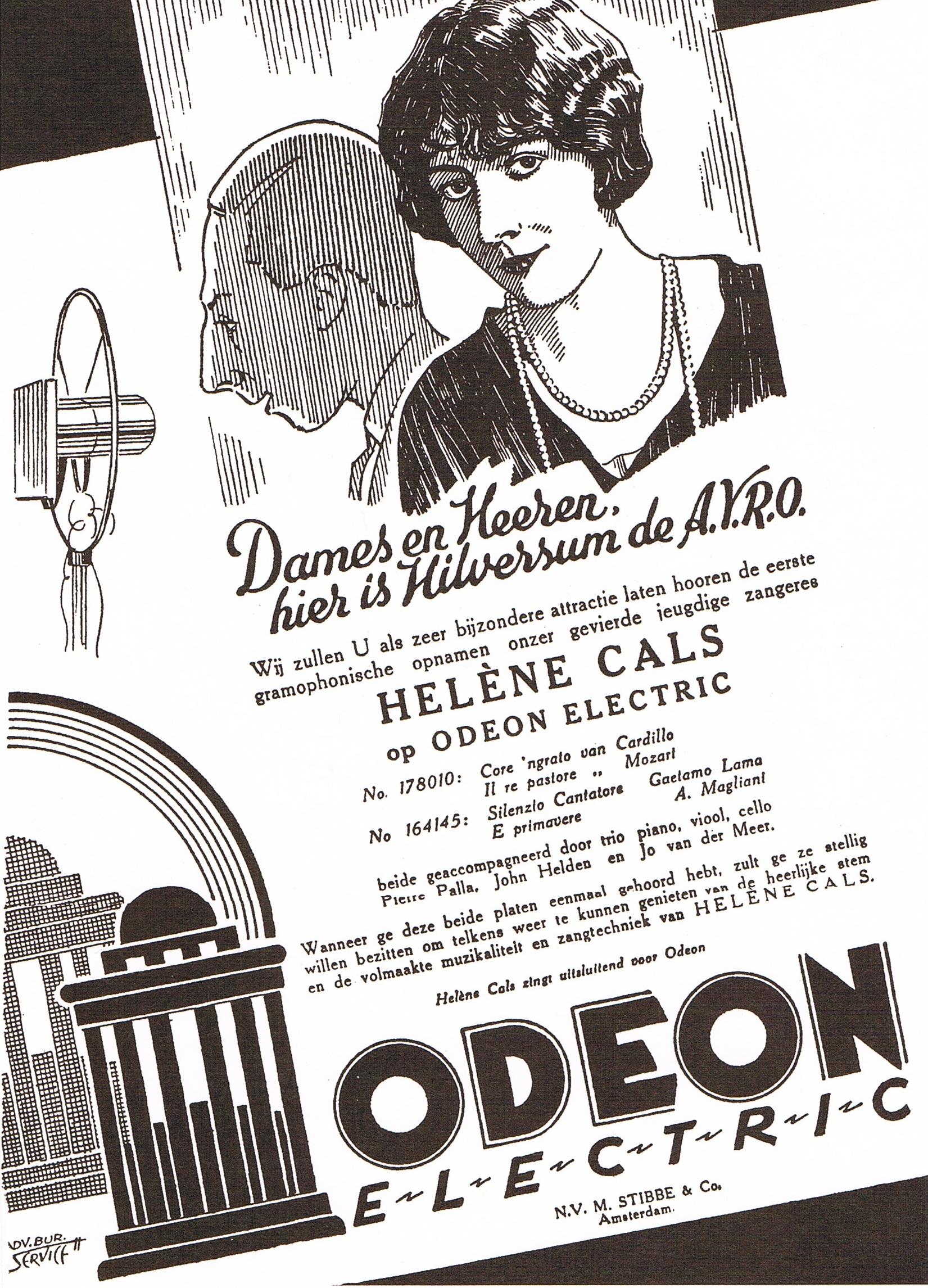 Helene Cals opnamen 1929 Amsterdam