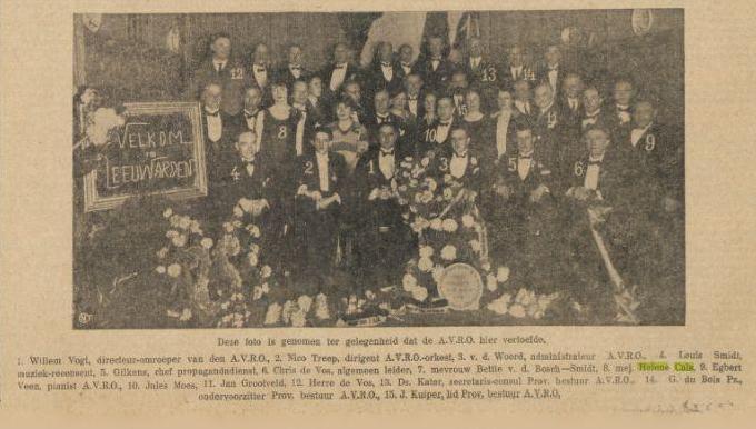 Helene Cals_Leeuwarden_9 nov 1928