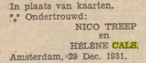 Helene Cals_Ondertrouw_Nieuwsblad vh Noorden 31dec31