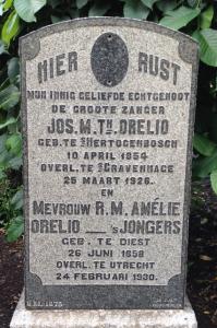 Grafsteen Jos Orelio