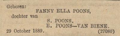 Poons_Geboorteadv_Alg Handelsblad_1-11-89
