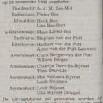 Overlijden _ Jo Vincent _ Telegraaf 5-12-89
