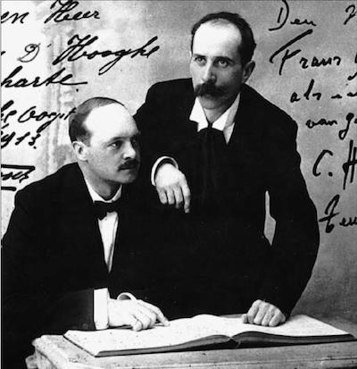 Emile Van Bosch -links- en zijn ontdekker Cesar Hinderdael