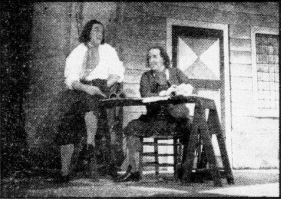 Tsaar Peter 1950 v.l.n.r. Chris Scheffer en Theo Baylé