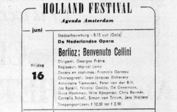 Aankondiging 1961