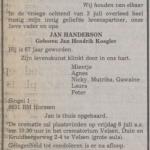 Overlijdensbericht Jan Handerson