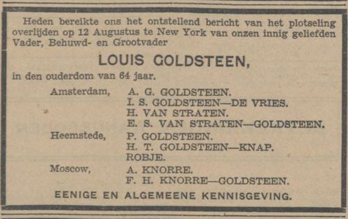 1940_Overlijdensbericht NL