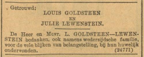Huwelijk 1899