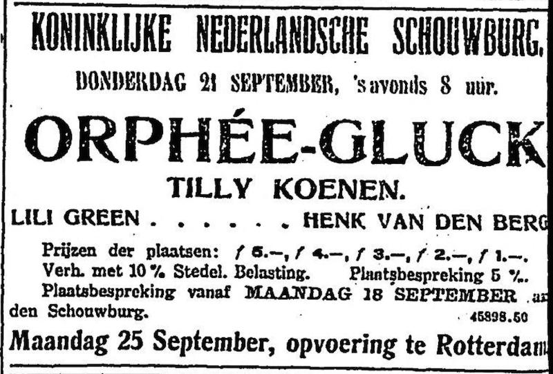 Tilly Koenen Gluck Rotterdam 1916