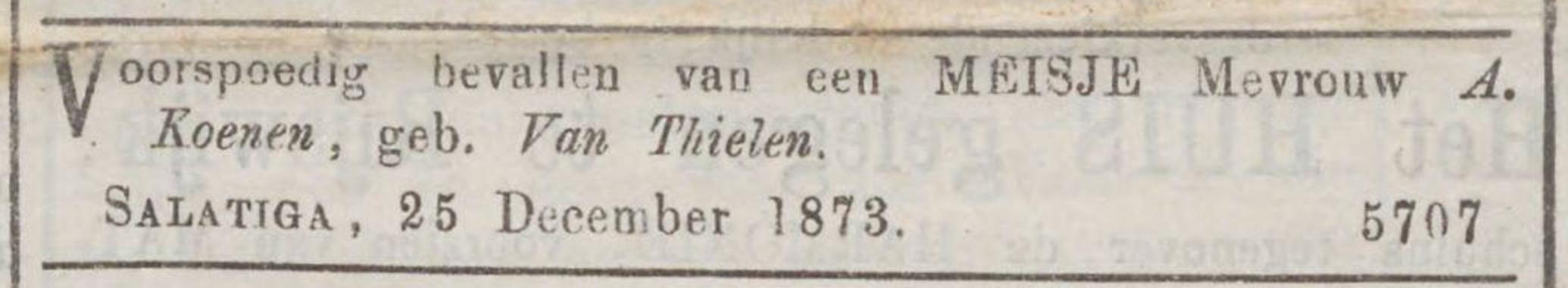 Tilly Koenen geboorteadv 1873