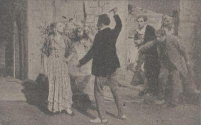 1942 Pagliacci vlnr Gerda Pons, Chris Reumer, Chris Scheffer en Theo Bayle