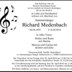 Traueranzeige Richard Medenbach